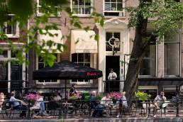 Cafe restaurant Luxembourg Singel Amsterdam terras
